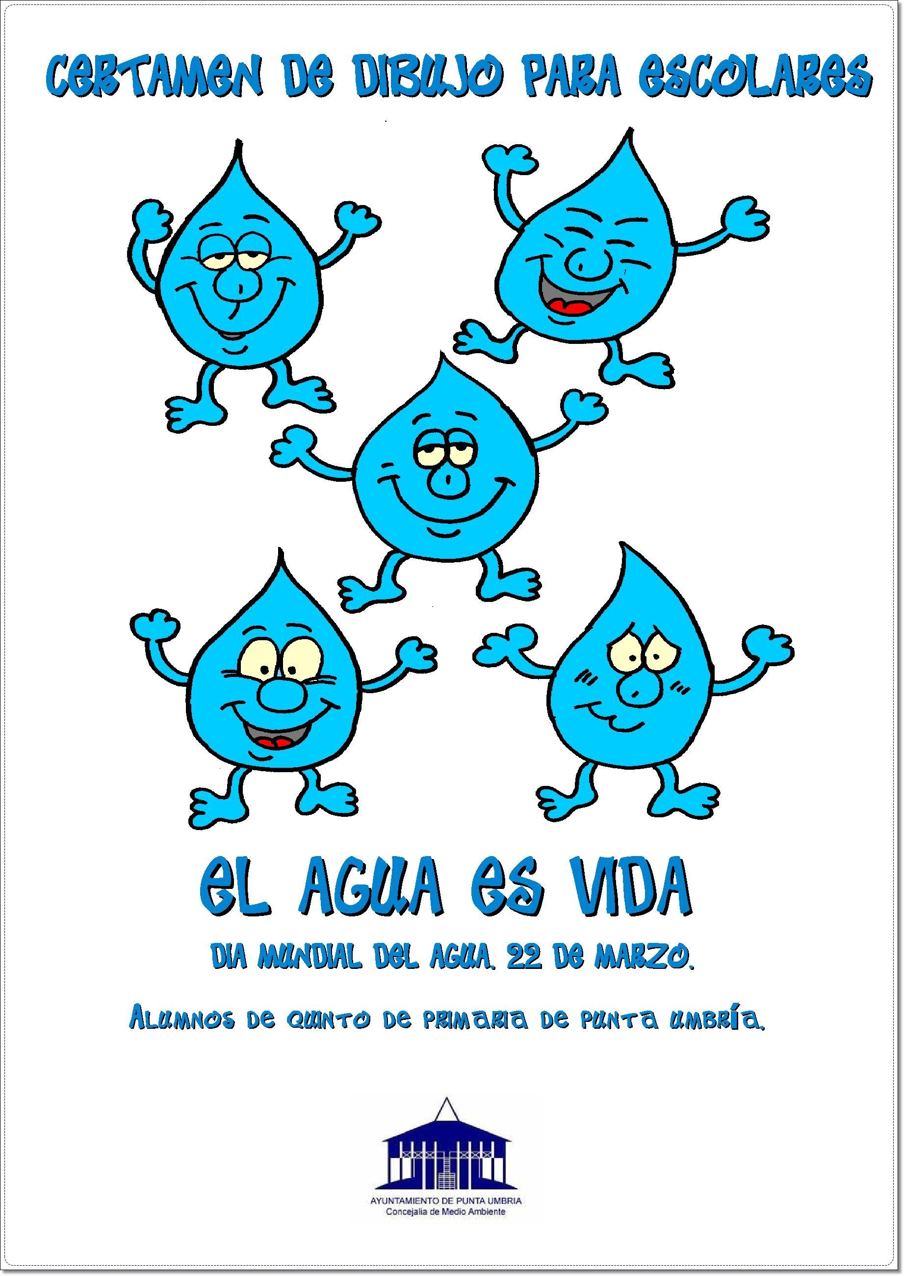 un concurso de dibujo escolar con motivo del Día Mundial del Agua